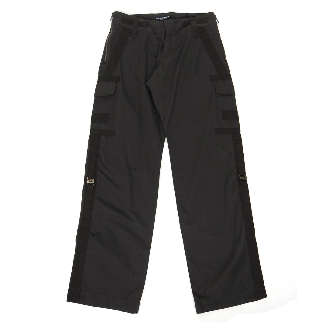 Dolce & Gabbana Tech Pants Black Size 46