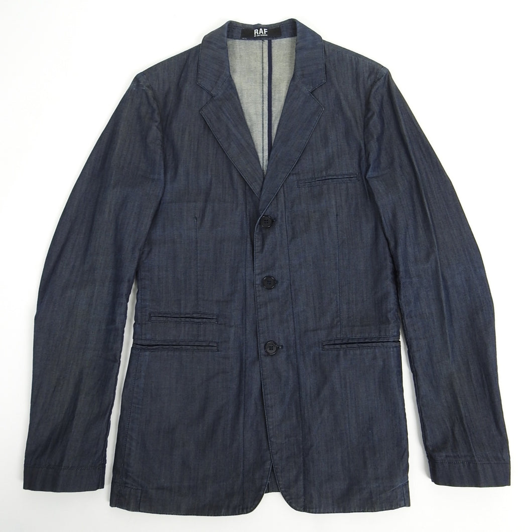 Raf by Raf Simons Denim Blazer Blue Size 48