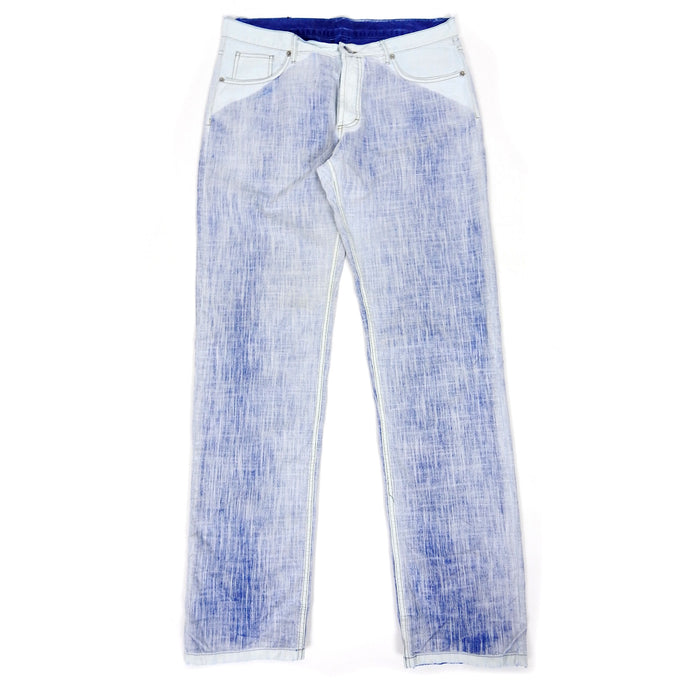 Fendi 2 Tone Trouser White/Blue Size 36