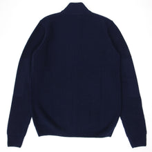 Load image into Gallery viewer, Fred Perry Zip Knit Navy Medium