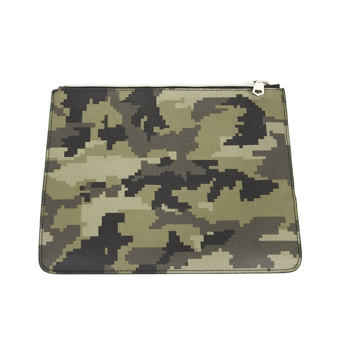 Givenchy Green Leather Digi Camo Pouch