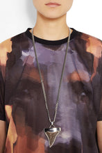 Load image into Gallery viewer, Givenchy Large Silver and Brass Shark Tooth Necklace