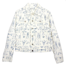 Load image into Gallery viewer, Gosha Rubchinskiy Scribble Denim Jacket Medium
