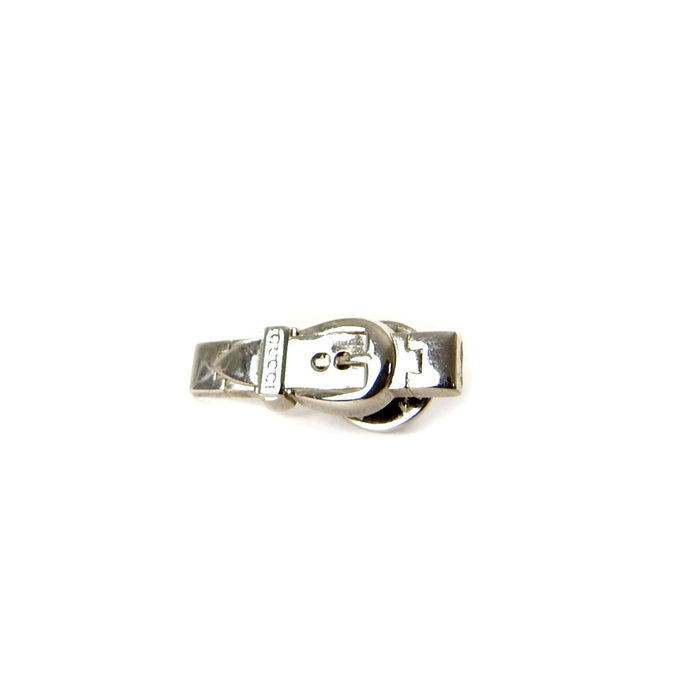 Gucci Silvertone Belt Pin