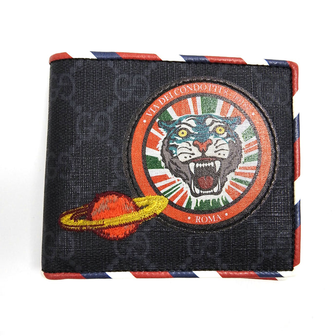 Gucci GG Supreme Tiger & Planet Patch Wallet