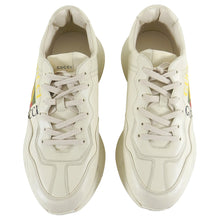 Load image into Gallery viewer, Gucci Cream Leather Logo Rhyton Sneakers - 10.5