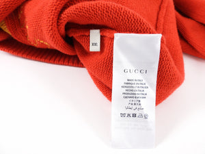 Gucci Blind For Love Red and Yellow Knit Sweater - L / XL