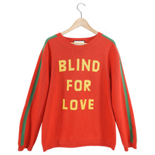 Load image into Gallery viewer, Gucci Blind For Love Red and Yellow Knit Sweater - L / XL