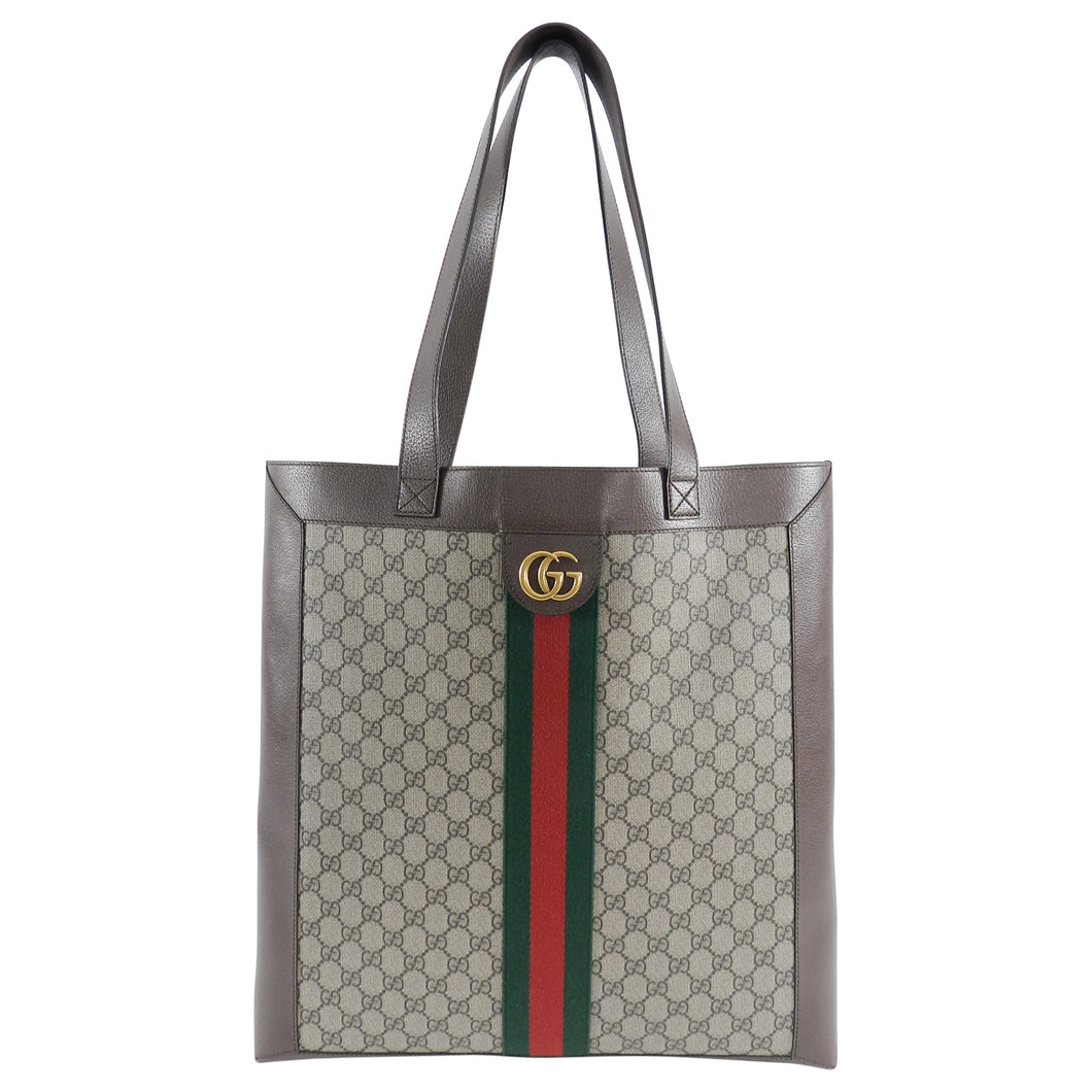Gucci Ophidia Brown Monogram Soft GG Supreme Large Tote Bag