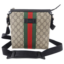 Load image into Gallery viewer, Gucci Monogram Supreme Web Stripe Small Messenger Bag