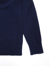 Load image into Gallery viewer, Helmut Lang Navy Cashmere Sweater Large