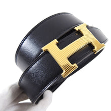 Load image into Gallery viewer, Hermes Constance H Belt Kit Black and Gold 32mm - Size 105