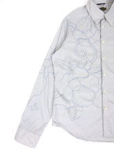 Load image into Gallery viewer, Kenzo Embroidered Stripe Shirt White/Blue XL