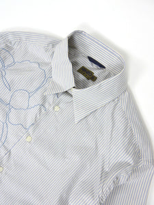 Kenzo Embroidered Stripe Shirt White/Blue XL