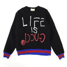 Load image into Gallery viewer, Gucci FW'16 Life is Gucci Sweater Fits Large