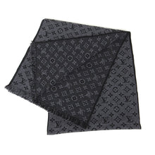 Load image into Gallery viewer, Louis Vuitton Wool Monogram Scarf Grey