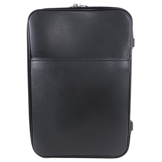 Louis Vuitton Black Taiga Leather Pegase 55 Rolling Travel Luggage