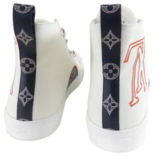 Load image into Gallery viewer, Louis Vuitton White Tattoo High Top Sneaker Boot - 11