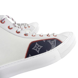 Louis Vuitton White Tattoo High Top Sneaker Boot - 11