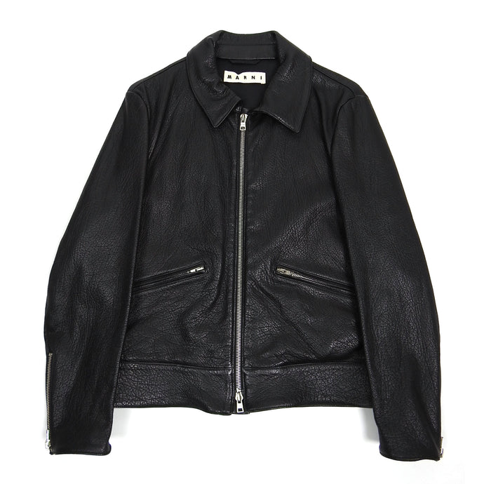 Marni Leather Jacket Size 50