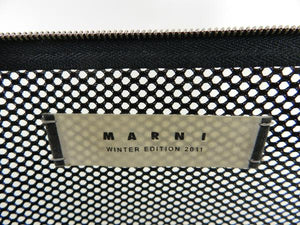 Marni Winter 2011 Clear Zip Top Mesh Clutch Bag