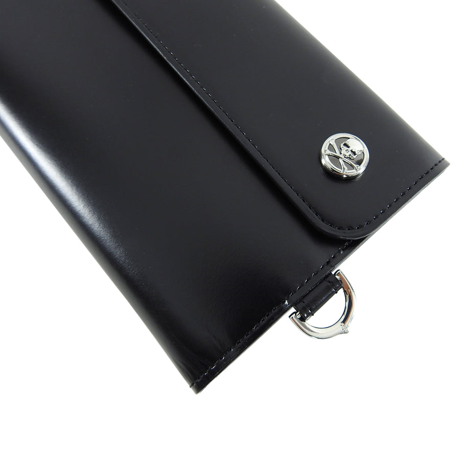 Mastermind World Japan Black Leather Snap Wallet