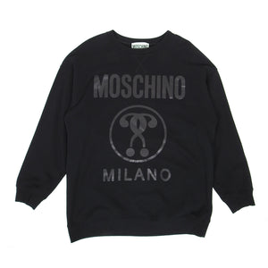 Moschino Crewneck Sweater Black Size 48