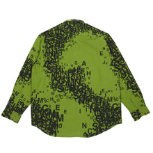 Load image into Gallery viewer, Moschino Jeans Green Script Shirt Large