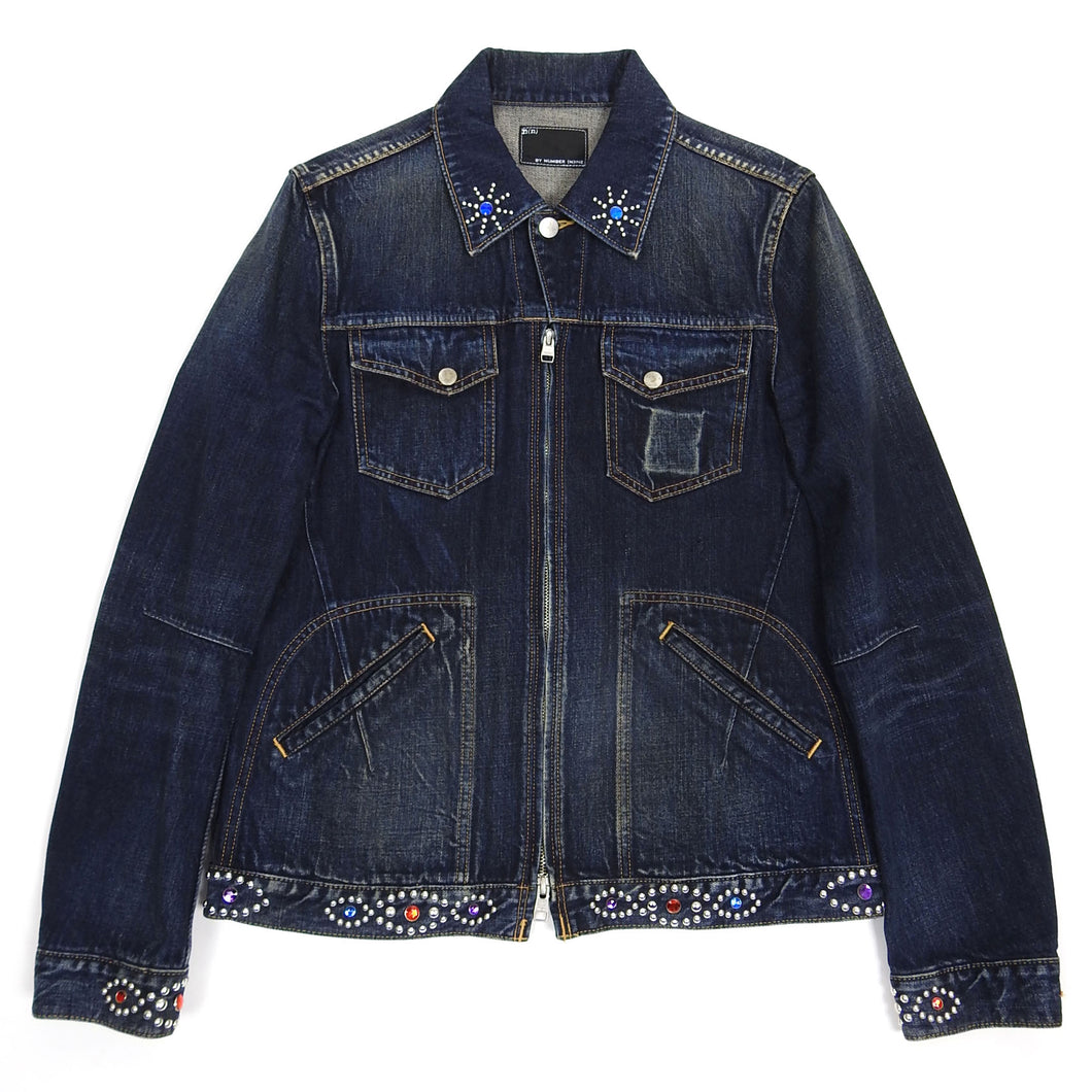 Number (N)ine Jewel Denim Jacket Size 3