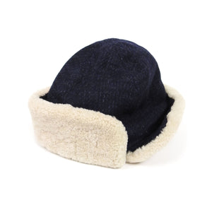 Oliver Spencer Sheepskin Hat Navy M/L