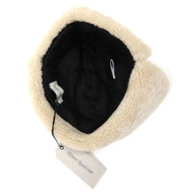 Load image into Gallery viewer, Oliver Spencer Sheepskin Hat Navy M/L