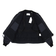 Load image into Gallery viewer, Our Legacy Navy Coated Bomber Jacket Size 46