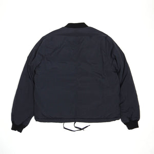 Our Legacy Navy Coated Bomber Jacket Size 46