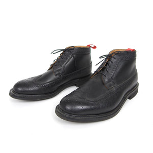 Oliver Spencer Black Pebble Grain Boots Size 12