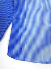Load image into Gallery viewer, Prada Blue Striped Shirt Size 43 || 17