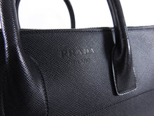 Load image into Gallery viewer, Prada Black Saffiano Leather XL Zippered Executive Tote Bag