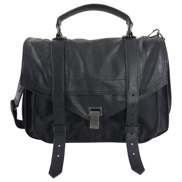Proenza Schouler PS1 Extra Large Black Leather and Nylon Bag