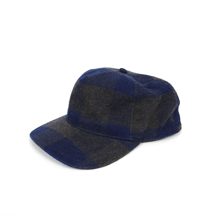 Rag & Bone Blue/Grey Check Cap