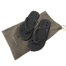 Load image into Gallery viewer, Rick Owens SS14 Vicious Flip Flops Black Size 42