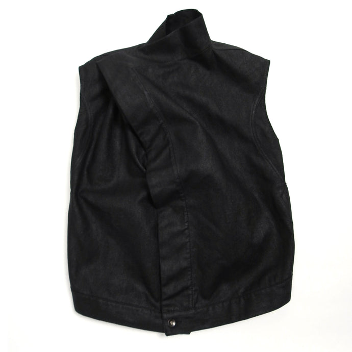 Rick Owens DRKSHDW Black Exploder Sleeveless Jacket Large