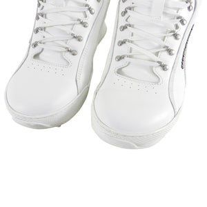 Saint Laurent White Leather Jump Sneaker - 10