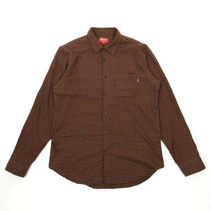 Supreme Brown Gingham Shirt Large