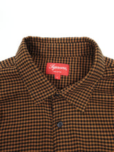 Load image into Gallery viewer, Supreme Brown Gingham Shirt Large