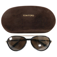 Load image into Gallery viewer, Tom Ford RF149 Ramone Black Frame Aviator Sunglasses with Gold Trim