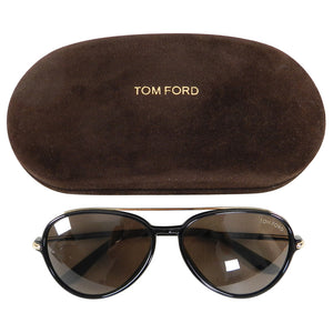 Tom Ford RF149 Ramone Black Frame Aviator Sunglasses with Gold Trim