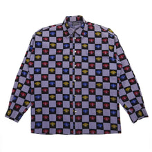 Load image into Gallery viewer, Versace Jeans Couture Purple/Black Check Medusa Button Up