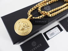 Load image into Gallery viewer, Versace Gold Chain Medusa Medallion Necklace