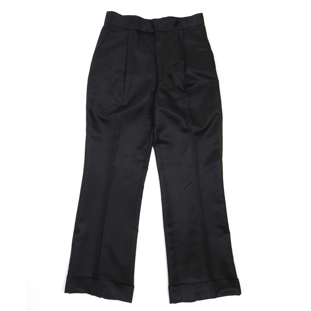 Yves Saint Laurent Rive Gauche BlackSilk Blend Trousers Size 42 (US 28)