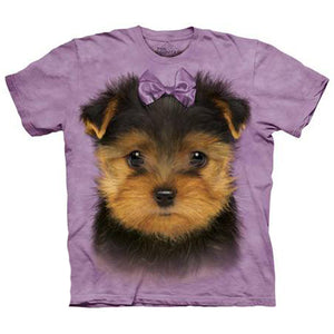 The Mountain Human T-Shirt - Yorkshire Terrier Puppy Face
