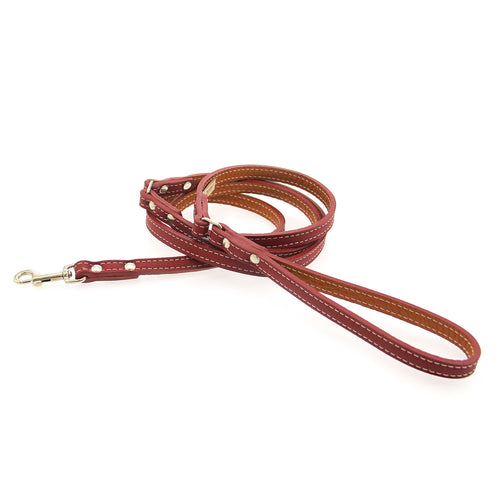 Tuscan Leather Dog Leash by Auburn Leather - Red
